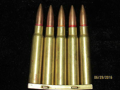 Japanese 7.7 Arisaka Clip with 5 Inert cartridges perfect condition Display
