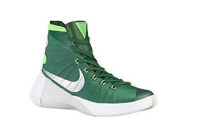 official photos 9d6fa 8790d Nike Hyperdunk Gorge Green Electric Green  Metallic Silver Sz 18 NWOB