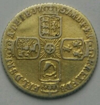 1757 King George Ii Silver Sixpence Coin.