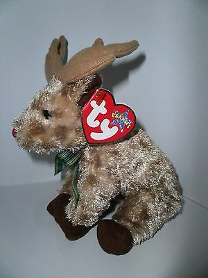 TY Beanie Babies - Rudy the reindeer, with hang tag