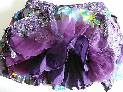 Very pretty purple girls skirt, for age 9 - 12 yrs, M & S Autograph Two linings.