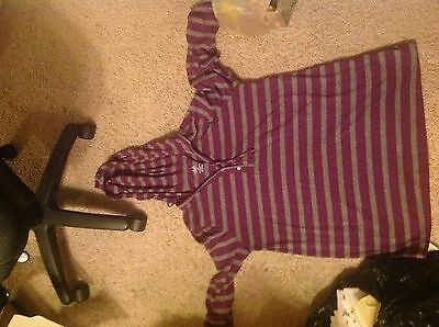 Duo Maternity Hoodie sz. Large Plum and Grey striped long sleeve