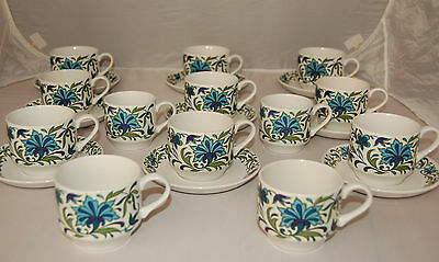 """Midwinter """"Spanish Garden"""" - 5 x Cups with Saucers - Free UK Postage"""