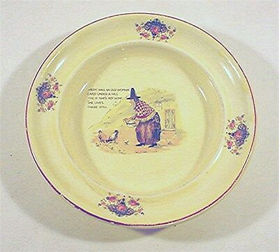 Vintage Child`s Nursery Rhyme Bowl / Advertising Bowl-Beckert`s-Pique ,ohio ??