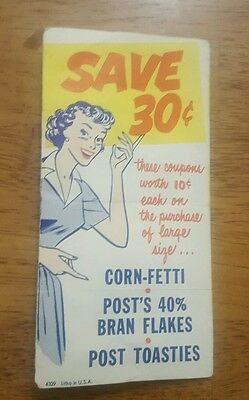 1952 Post Cereal Coupons - Super Rare!