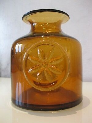 A Very Lovely Darlington Crystal Clematis Bottle Vase – Amber (BNWT)