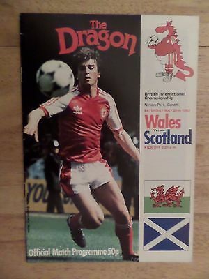 1983 Wales v Scotland, International programme at Cardiff, EXC condition
