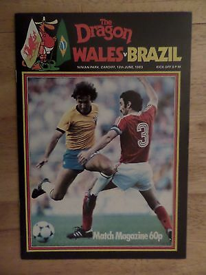 1983 Wales v Brazil, International programme at Cardiff, EXC condition