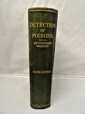 Old Medical Book Lab Detection of Poisons Blakiston 1928 Illustrated Hardcover