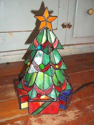 Stained Glass Christmas Tree Lamp Meyda