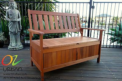 Storage Box & Bench: New Large Wooden Timber Outdoor Storage Chest: Buy and SAVE