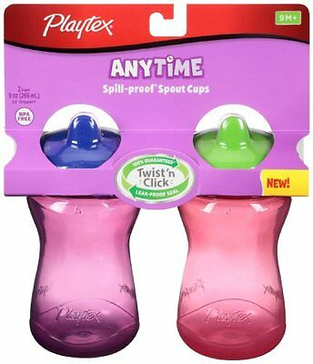 Playtex Sipsters Stage 2 Spout Sippy Cups - 9 Ounce - 2 Pack colors may vary