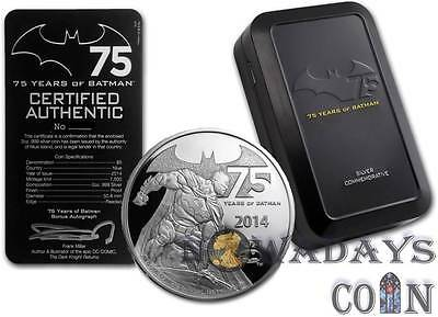 Niue 2014 $5 Batman - 75 Years of Anniversary Proof Silver Coin 2Oz