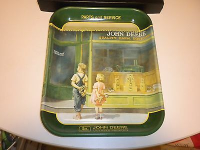 JOHN DEERE METAL TRAY 1999 MADE IN U.S.A. VERY GOOD CONDITION 13 1/4 x 10 3/4