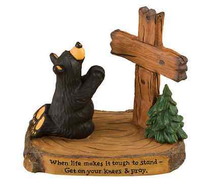 Bearfoots Pray Figurine By Jeff Fleming Big Sky Carvers # 30150197