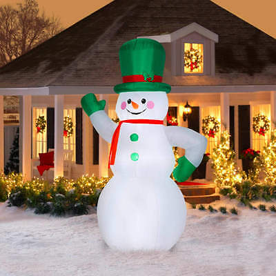 CHRISTMAS SANTA Green GIANT 10 FT SNOWMAN INFLATABLE AIRBLOWN YARD DECORATION