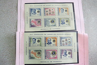 Nicaragua 2 MUH mini sheets 1958 int congress central america stamps
