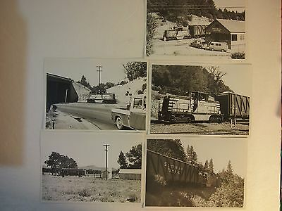 Southern Pacific RR, Placerville and Lake Tahoe RR 5-5 x 7 real photos
