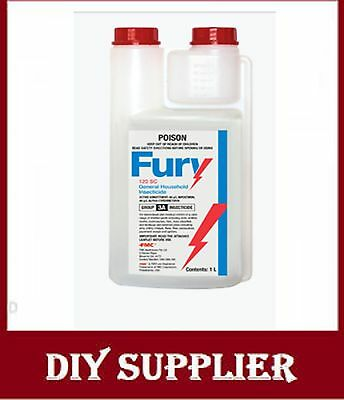 1L Fury 120 cockroaches spiders ants bedbugs pest control kill bug beetle