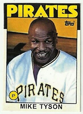 Mike Tyson Awesome Custom Made Oddball Card 1986 Style Pitsburgh Pirates