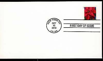 US 2013 . Poinsettia (4816) First Day Cover . Uncacheted