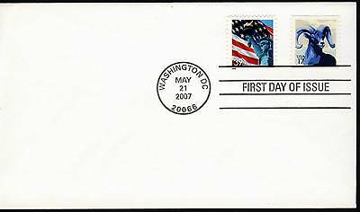 US 2007 . Bighorn Sheep Coil (4140) First Day Cover . Uncacheted