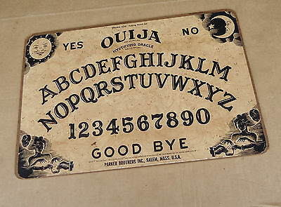 vintage william fuld ouija wooden board game,mystifying oracle,parker brothers