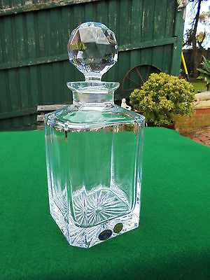 Signed Bohemia Crystal Glass Decanter Like New
