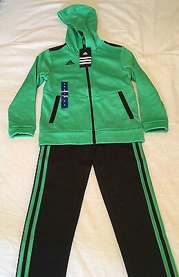 *NEW* Boys Adidas 2-Piece Sport Suit, Heathered Green/Gray, Size 6