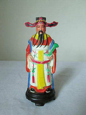 Beautiful Vintage Chinese Miniature Plastic Figurine By Vita Made In Hong Kong.