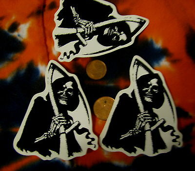 lot of 3 Crazy Rebel Stickers Grim Reaper Father Death Angel of Death Hel