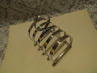 Antiques WALKER & HALL Sheffild A1 Silver plated Toast Rack