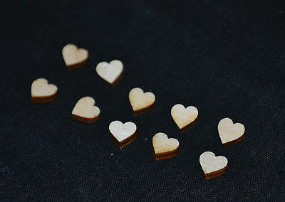 20pcs Laser cut, small wooden hearts, 3mm plywood