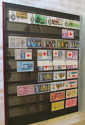 UK stamps stock book includes Phosphor issues Red Cross