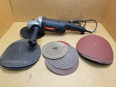 "Drill Master 7"" Variable Speed Polisher & Sander with sanding disks"