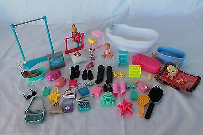 BARBIE Toy Accessories and Barbie Dolls, Barbie Shoes Lot