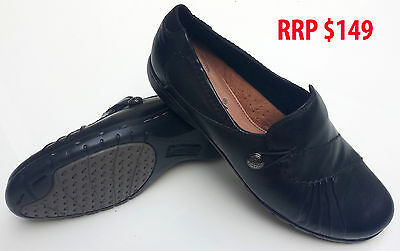 Barani Ladies Shoes Robyn Black Leather Sz 5 Work Nursing Uniform
