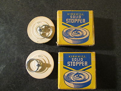 """Vintage Kirkhill Solid Stopper With Ring 1 1/2"""" - Lot of 2 New Old Stock -"""