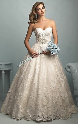 New White/Ivory Lace Wedding Dress Bridal Gown Size 6 8 10 12 14 16 18 20++++++