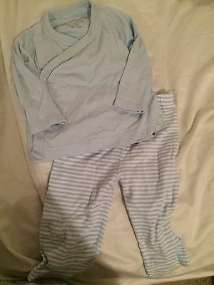 New Burt's Bees Organic Cotton Baby Boy Outfit Top Pants 0-3 6 Months