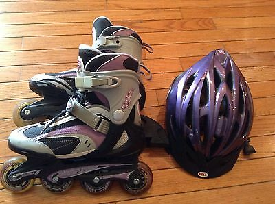 Woman's Roller blades and Helmet