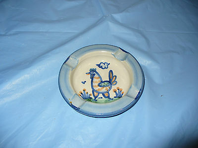 Vintage MA Hadley Ash Tray Chicken Rooster M.A. Ashtray Hand Painted Stoneware