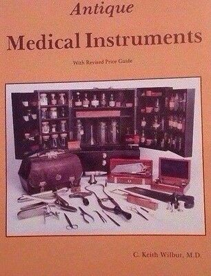 ANTIQUE MEDICAL INSTRUMENT VALUE GUIDE COLLECTORS BOOK bloodletting stethoscope+