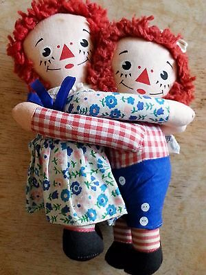 Raggedy Ann and Andy Hugging Dolls Knickerbocker Toy Company