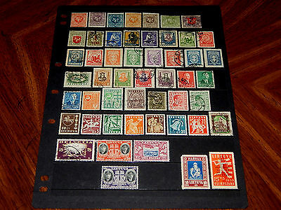 Lithuania stamps - 51 mint hinged and used early stamps - super !!