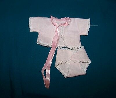 Vintage Vogue Ginnette Pink Diaper and Diaper Shirt Tagged