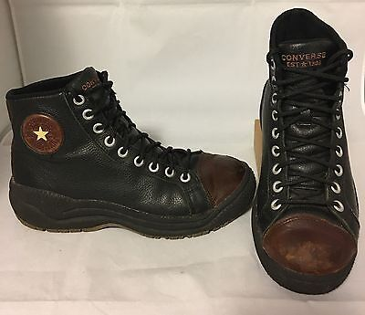 Vintage Leather Converse Chuck Taylor High Tops Men's Black Brown All Stars