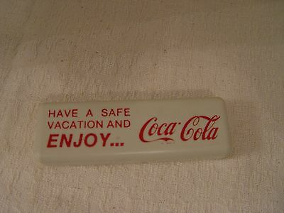 70s Have a Safe Vacation & Enjoy COCA-COLA Toothbrush & Mini Toothpaste In Case