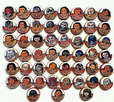 Set Of 51 Mexican Luchadores Victoria Beer Bottle Caps - Mexico - 2015 - Chapa