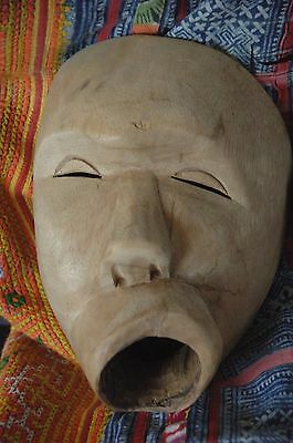 Old Javanese Carved Wooden Dance Mask …beautiful collector's piece